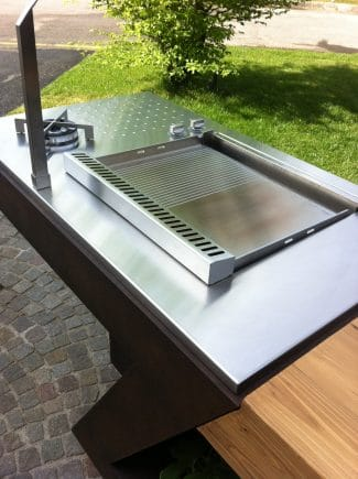 Plancha encastrable 100% inox