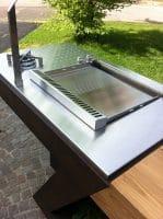 Feu gaz encastrable – cuisine extérieure