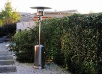 OutTrade Série Sunred – OTGH12RVS Chauffage d'Extérieur à Gaz en Acier Inox