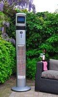 OutTrade Série Sunred – OTHAT12 Chauffage mobile avec détecteur de mouvement et multimédia