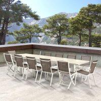 Wilsa Garden – Ensemble Tulum 8 P T8/12+F8+C4 Aluminium Blanc
