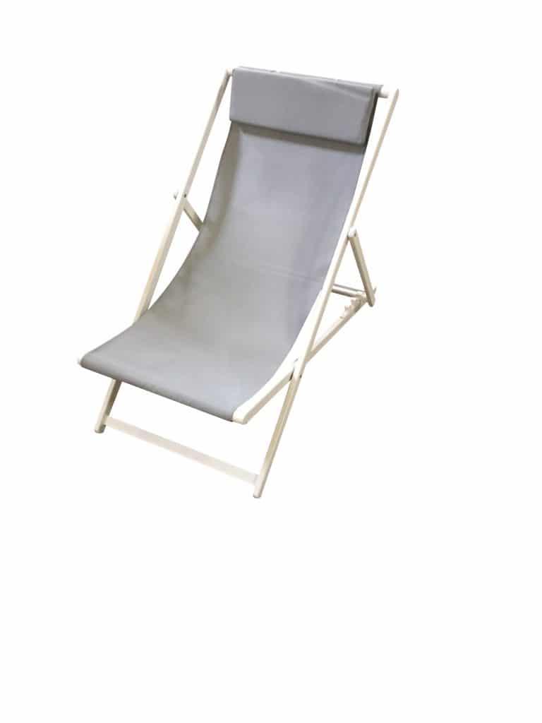 Wilsa garden chaise chilienne phoenix gris clair cook - Chaise chilienne ...