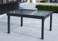 Wilsa Garden – Table Modulo T6/10 Verre encadré Gris Anthracite